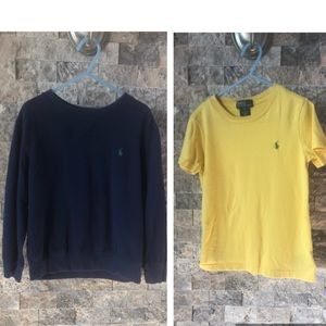Bundle of 2 - Polo Sweatshirt & T-Shirt - Size 5